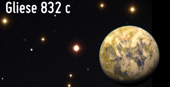 Gliese832c with star